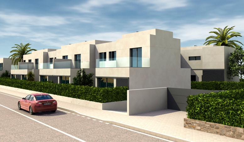 Modern Townhouses located at Punta Prima