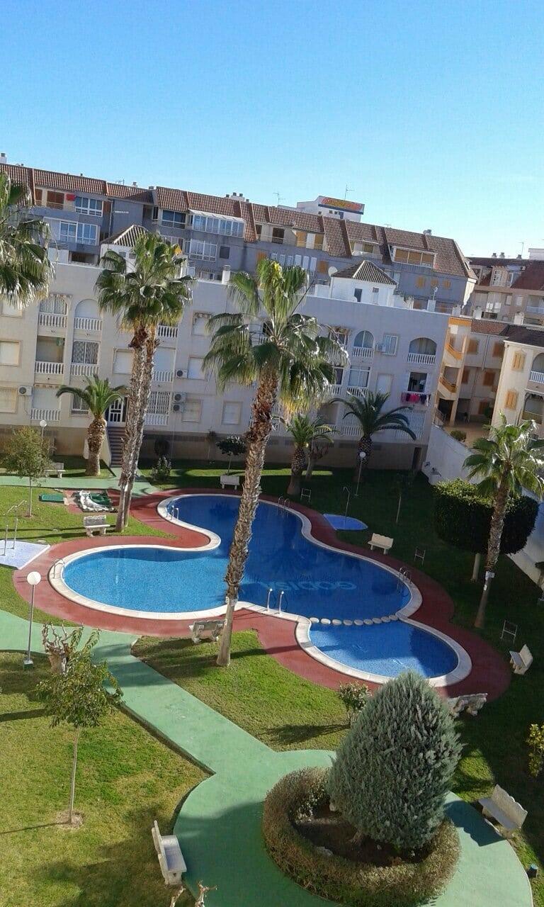 Апартаменты с бассейном, одной спальней в 150м от пляжа Acequion